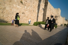 Orthodox Jews Walking From Old City