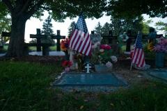 Flag In Front Of Columbine Memorial