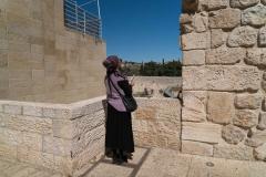 Woman Praying at Western Wall