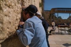 Man Praying at Western Wall