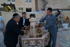 Washing Hands Before Worshing at The Western Wall