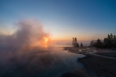 Sunrise At The Black Pool Hot Spring